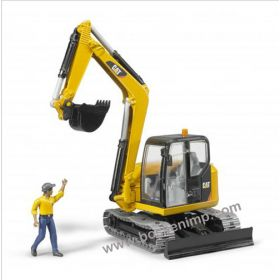 1/16 Caterpillar Mini Excavator on track with worker