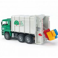 1/16 MAN TGA Garbage Truck, Rear Loading, Green, plastic
