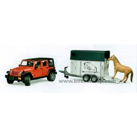 1/16 Jeep Wrangler Unlimited Rubicon with Horse Trailer