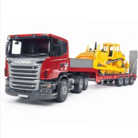 1/16 Scania R-Series semi w/Cat Dozer