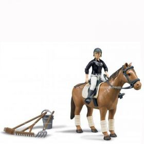 1/16 Horse with female rider and accessories