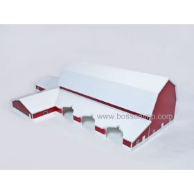 1/64 Dairy Barn with milking parlor and loafing shed