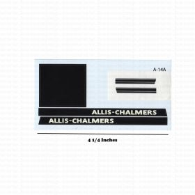 Decal 1/16 Allis Chalmers 190 Hot Rod without cream outline Set