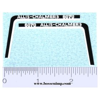 Decal 1/16 Allis Chalmers 6070 Hood Stripe
