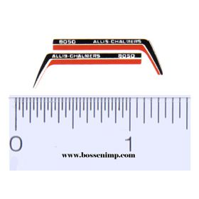 Decal 1/64 Allis Chalmers 8050 Hood Stripes