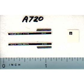 Decal 1/64 Allis Chalmers 200 Set