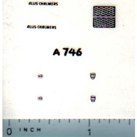Decal 1/64 Allis Chalmers WD or WD-45 Set (Black)