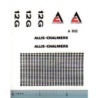 Decal 1/16 Allis Chalmers Crawler 12G Set