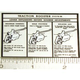 Decal Allis Chalmers CA Traction Booster for Pedal