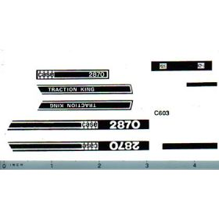 Decal 1/32 Case 2870 Set