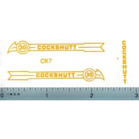 Decal 1/16 Cockshutt 30 (yellow)