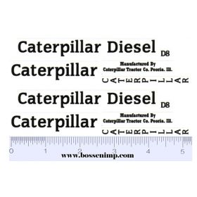 Decal 1/12 Caterpillar Diesel D8