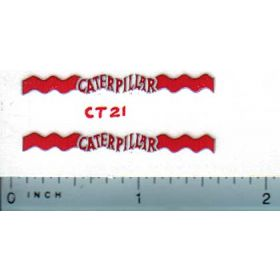 Decal Caterpillar Logo (white, red, silver)
