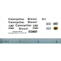 Decal 1/16 Caterpillar D6 Set (w/DCT1 Warning Lable Set)