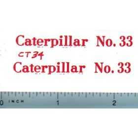 Decal 1/16 Caterpillar No. 33 (red)