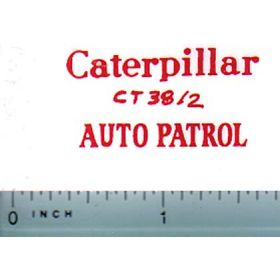 Decal 1/16 Caterpillar Auto Patrol (red)