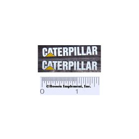 Decal Caterpillar Logo (white, yellow triangle)