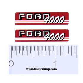 Decal 1/12 Ford 4000 (Red & Gray)