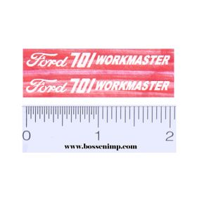 Decal 1/12 Ford 701 Workmaster (White)