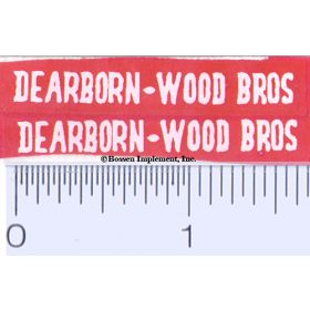Decal 1/16 Dearborn-Wood Bros White (Pair)