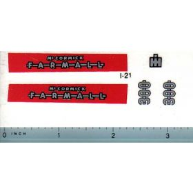 Decal 1/16 Farmall 300 Set (red background)