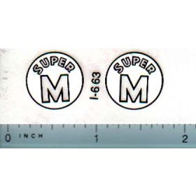 Decal 1/08 Farmall Super M Model Number