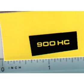 Decal 1/16 John Deere 900HC Compact Utility Model Numbers