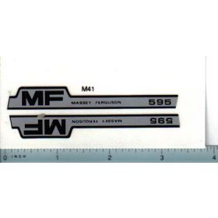 Decal 1/16 Massey Ferguson 595 Hood Stripes