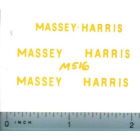 Decal 1/20 Massey Harris Combine set