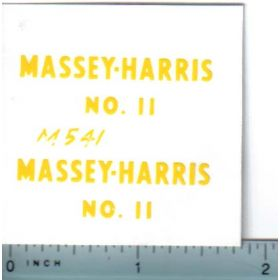 Decal 1/16 Massey Harris Spreader No.11