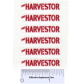 Decal 1/16 Minneapolis Moline The Harvestor - Red set of 6