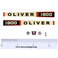 Decal 1/16 Oliver 1800 Set