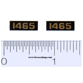 Decal 1/16 Oliver 1465 Model Numbers (Pair)