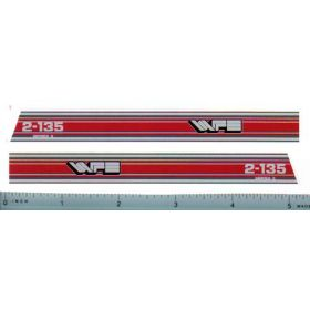 Decal 1/16 White Hood Stripes 2-135 red