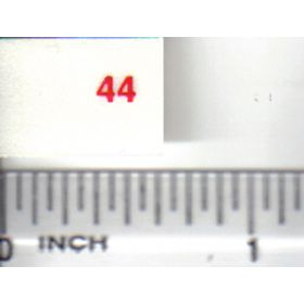 Decal 1/16 Oliver 44 Model Numbers red