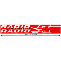 Decal Radio Flyer Jet Wagon (Pair)