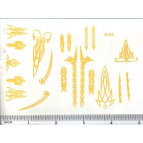 Decal Pin Stripe Set - Yellow large