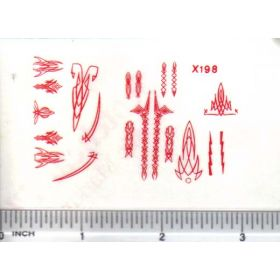 Decal Pin Stripe Set - Red small
