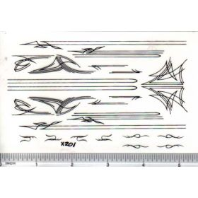 Decal Pin Stripe Set - Black large