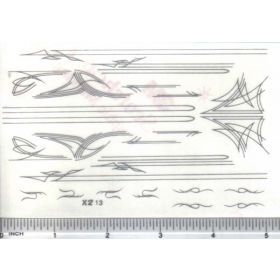 Decal Pin Stripe Set - Silver large