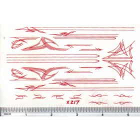 Decal Pin Stripe Set - Red large