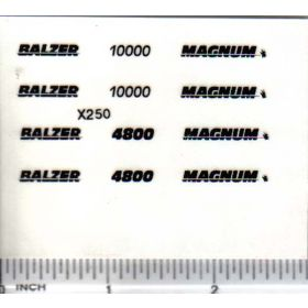 Decal 1/64 Balzer & Magnum, 4800, 10000 - Black