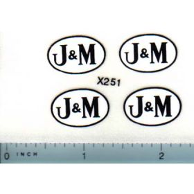 Decal 1/16 J&M Logo