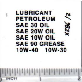 Decal 1/16 Lubricant Peteroleum Set - Black