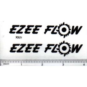 Decal 1/16 Ezee Flow Black