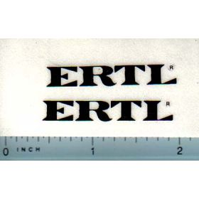 Decal 1/16 Decal Ertl (black)