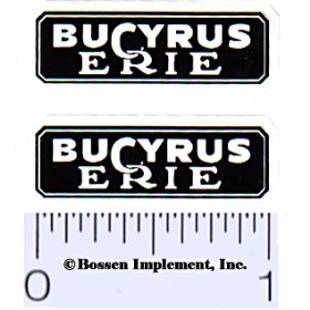 Decal 1/16 Bucyrus Erie (Pair)
