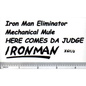 Decal 1/16 Iron Man Eliminator Set - Black