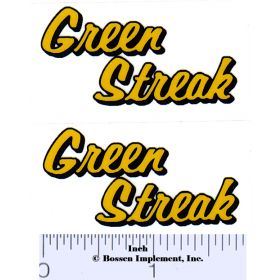 Decal 1/16 Green Streak Decals (Yellow, Black) (Pair)