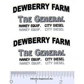 Decal 1/16 Dewberry Farm (Pair)